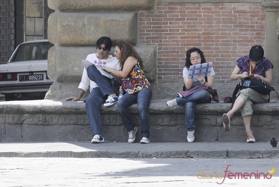Lolita y Pablo Durán dos turistas más en Florencia