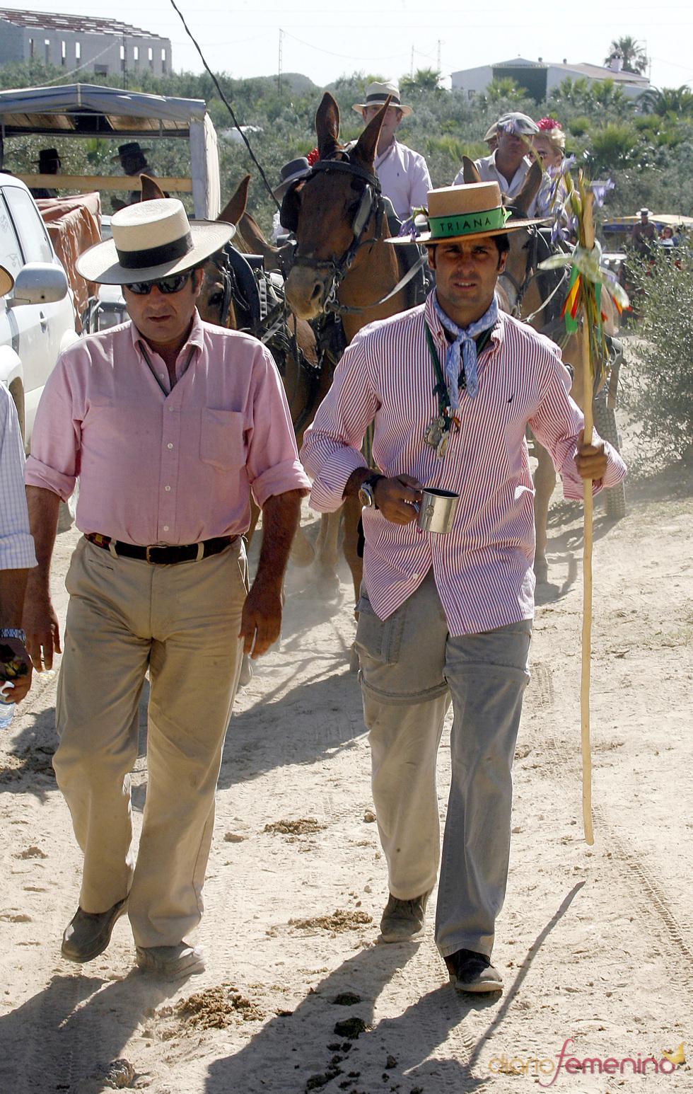 Francisco Rivera pasa calor en el Rocío