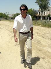 Antonio Garrido en la romería del Rocío