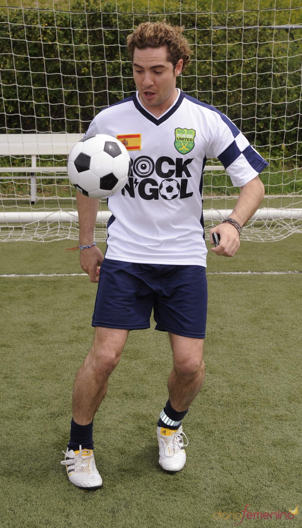 David Bisbal y su afición por el fútbol