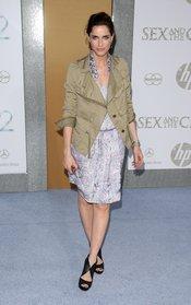 Amanda Peet en el estreno de 'Sexo en Nueva York 2'