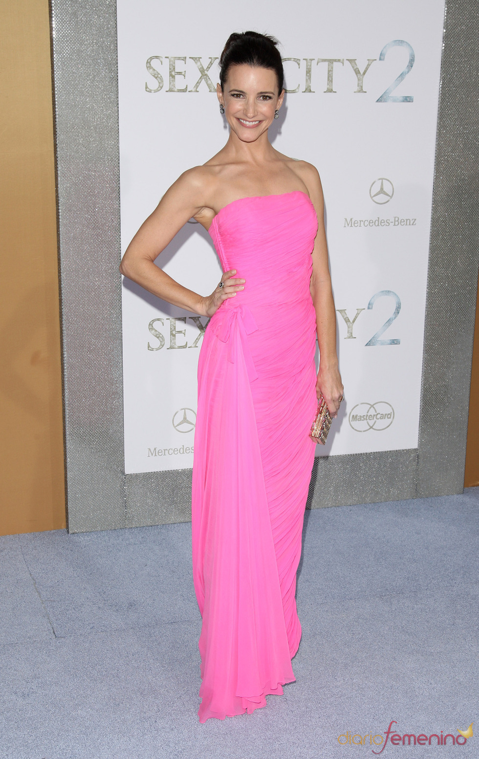 Kristin Davis en el estreno de 'Sexo en Nueva York 2'