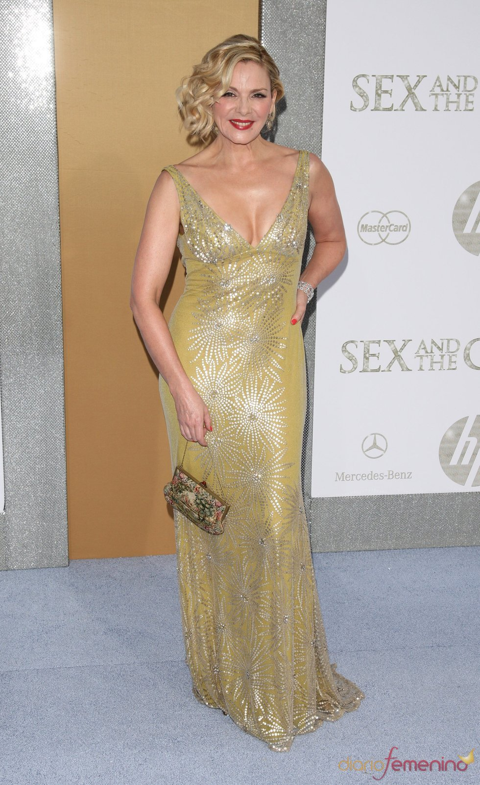 Kim Cattrall en el estreno de 'Sexo en Nueva York 2'