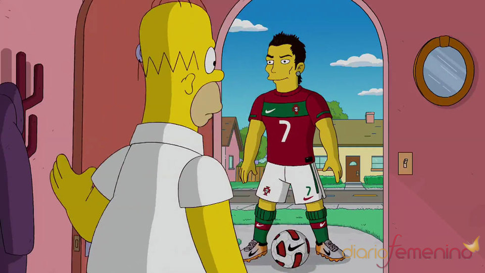 Cristiano Ronaldo en la serie Los Simpson