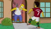 El 'portero' Homer no para los goles de Cristiano Ronaldo