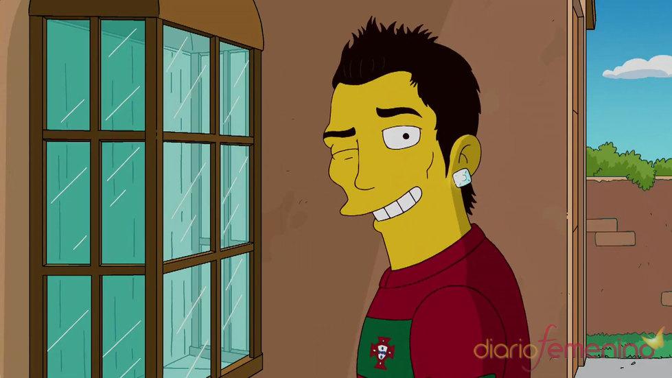 Cristiano Ronaldo cambia el  Real Madrid por la serie Los Simpsons