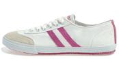 Deportiva blanca y rosa de Bamba