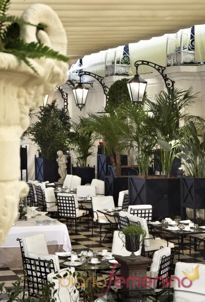 El jardín del hotel Palace de Barcelona