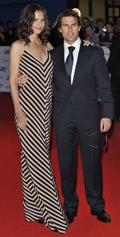 Tom Cruise y Katie Holmes en los National Movies Awards 2010