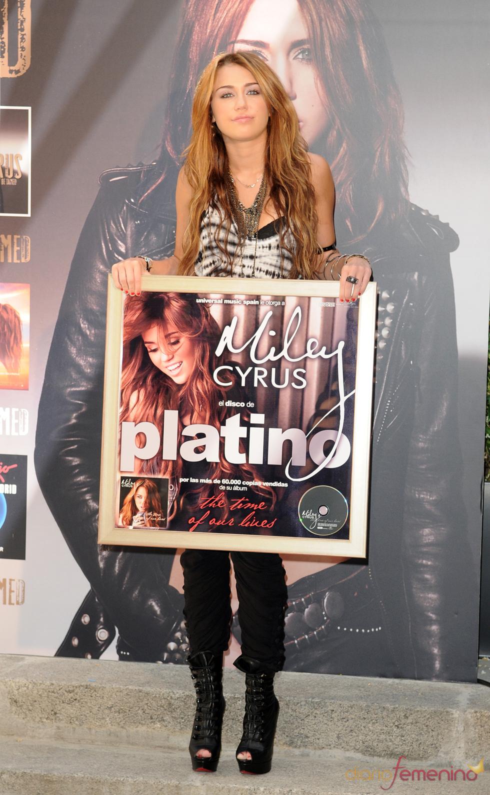 Miley Cyrus presenta disco en Madrid