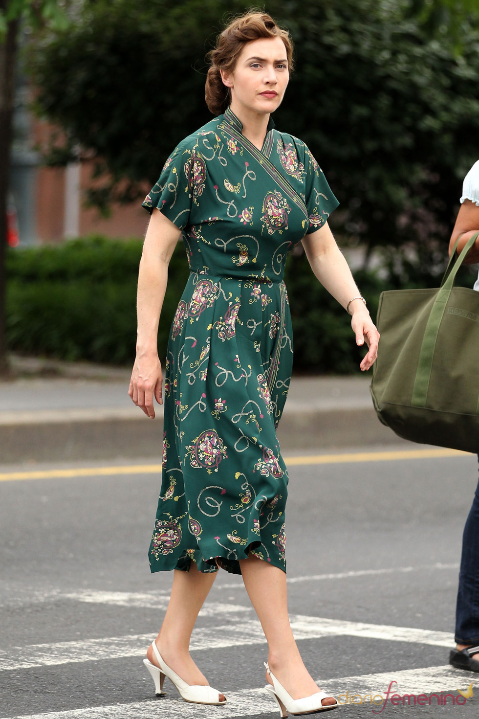 Kate Winslet en el rodaje de 'Mildred Pierce'