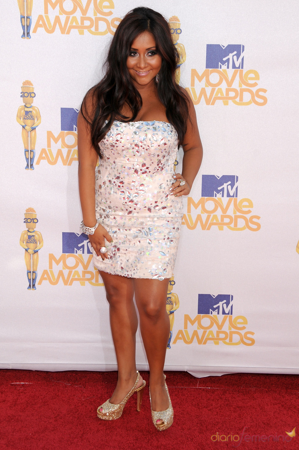 Nicole 'Snooki' Polizzi en los MTV Movie Awards