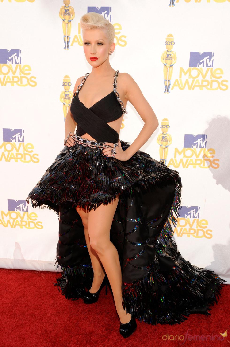 Christina Aguilera en los MTV Movie Awards 2010