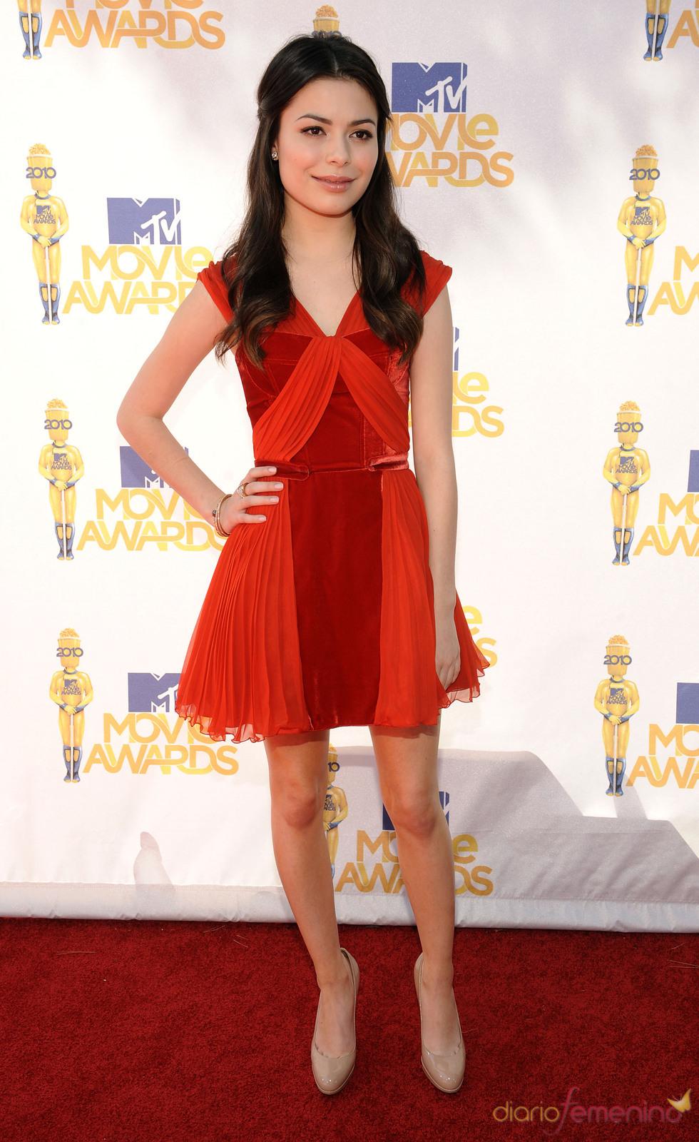 Miranda Cosgrove en los MTV Movie Awards 2010