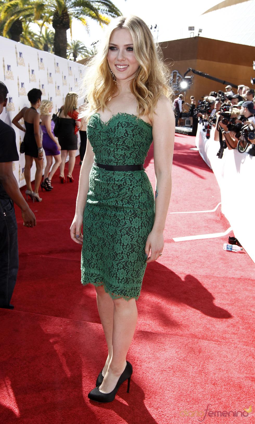 Scarlett Johansson en los MTV Movie Awards 2010