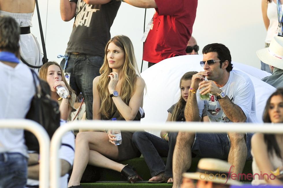Luis Figo, al Rock in Rio Madrid 2010 en familia