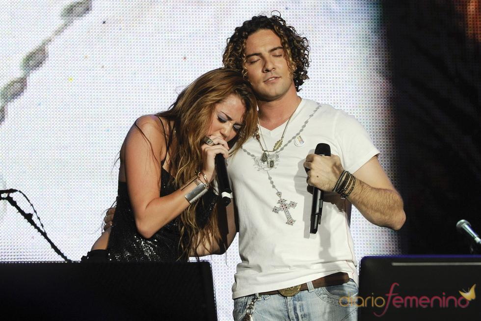 Miley Cyrus y David Bisbal: sorpresa en el rock in Rio 2010