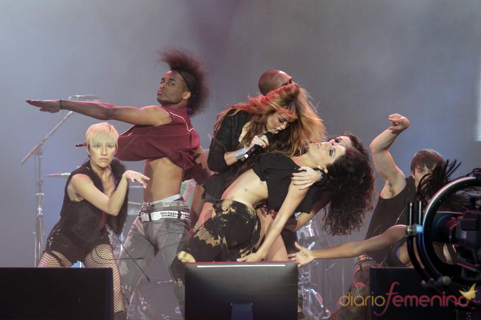 El lado salvaje de Miley Cyrus en el rock in Rio 2010