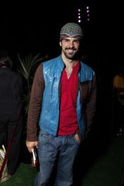 Miguel Ángel Muñoz, sonriente en el Rock in Rio Madrid 2010