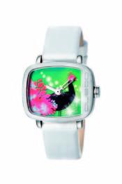 Reloj en tono verde y rojor de Custo on Time!