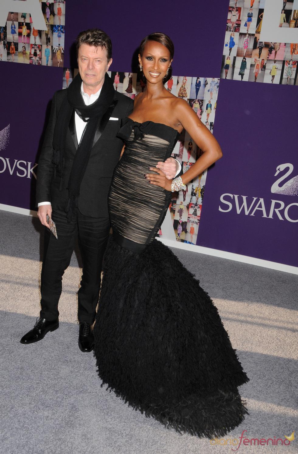 David Bowie e Iman en los Premios CFDA de la Moda