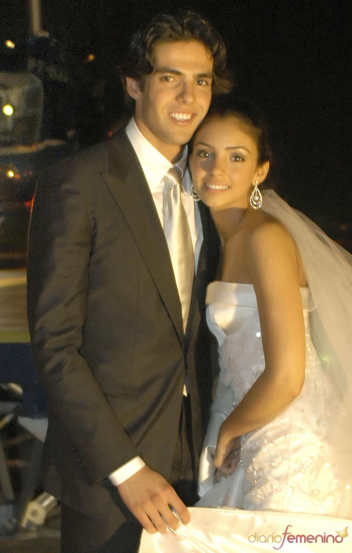 Boda de Kaká con su mujer Caroline Celico