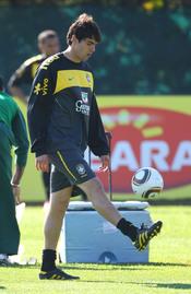 Kaká con Brasil en Sudáfrica 2010