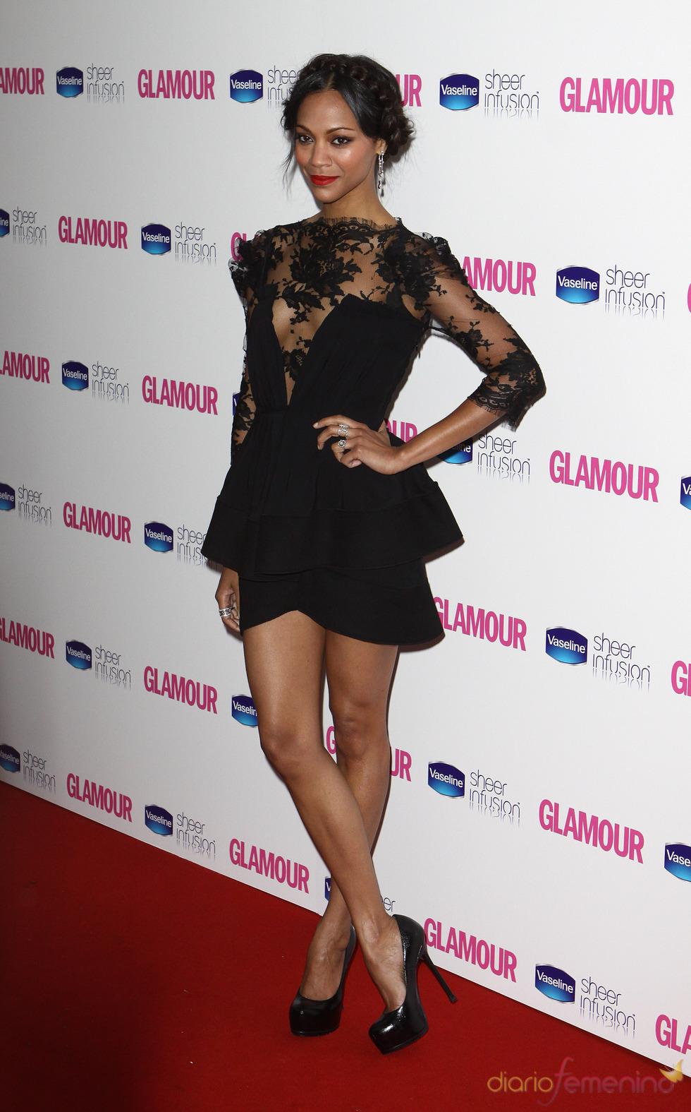 Zoe Saldana en los Premios Glamour 2010