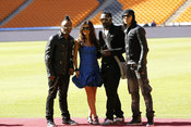 Black Eyed Peas listos para la Ceremonia de Apertura del Mundial 2010