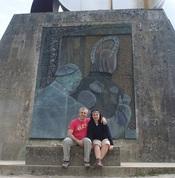 Pareja de pelegrinos en el Camino Francés de Santiago