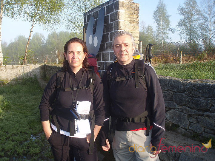 Marido y mujer juntos en el Camino de Santiago