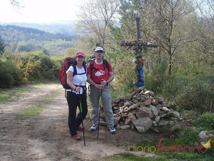 Rosa de la Guía y Tomás Mazuecos en el Camino de Santiago
