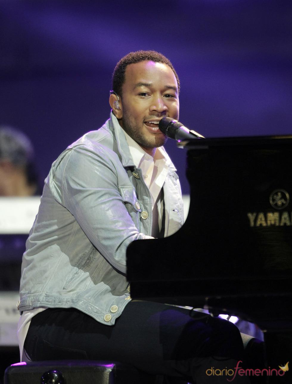 John Legend en el concierto previo al Mundial