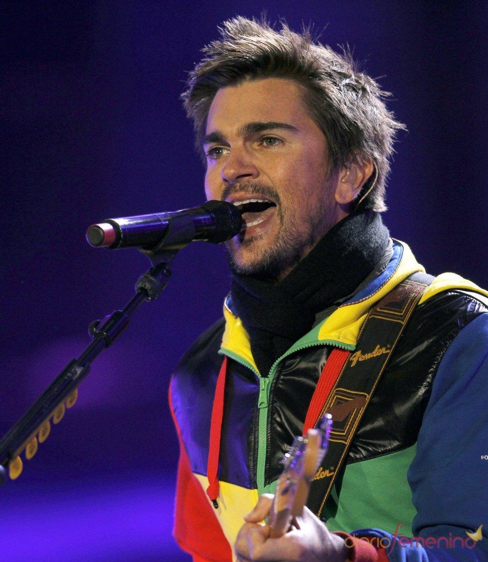 Juanes en concierto para el Mundial de Fútbol