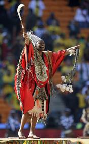 Orgullo africano en la fiesta del Mundial 2010