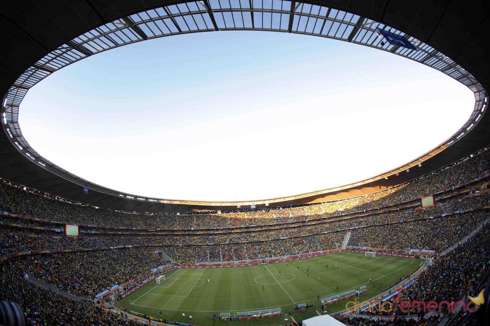 La fiesta fútbol en el Soccer City Stadium de Johanesburgo