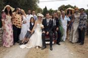 Foto de familia de la boda de María Adánez