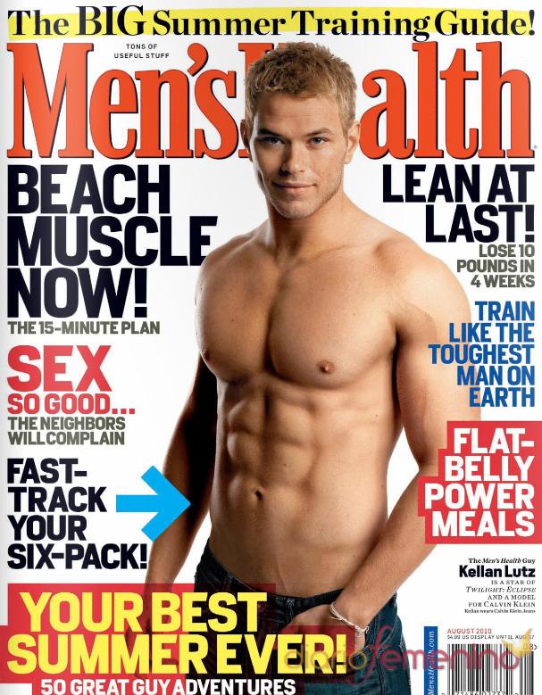 ... kellan lutz ensena su torso en la portada de men s health men s health