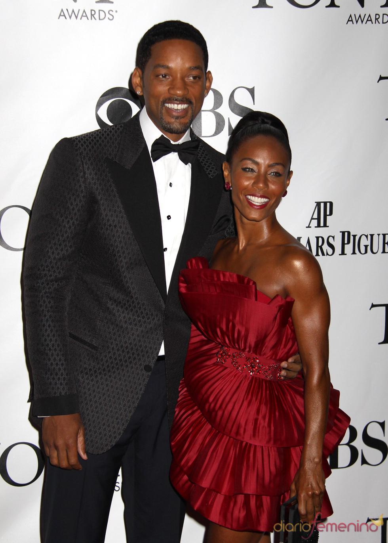 Will Smith y Jada Pinkett Smith en los premios Tony 2010