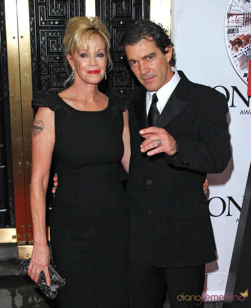 Antonio Banderas y Melanie Griffith en los Premios Tony 2010