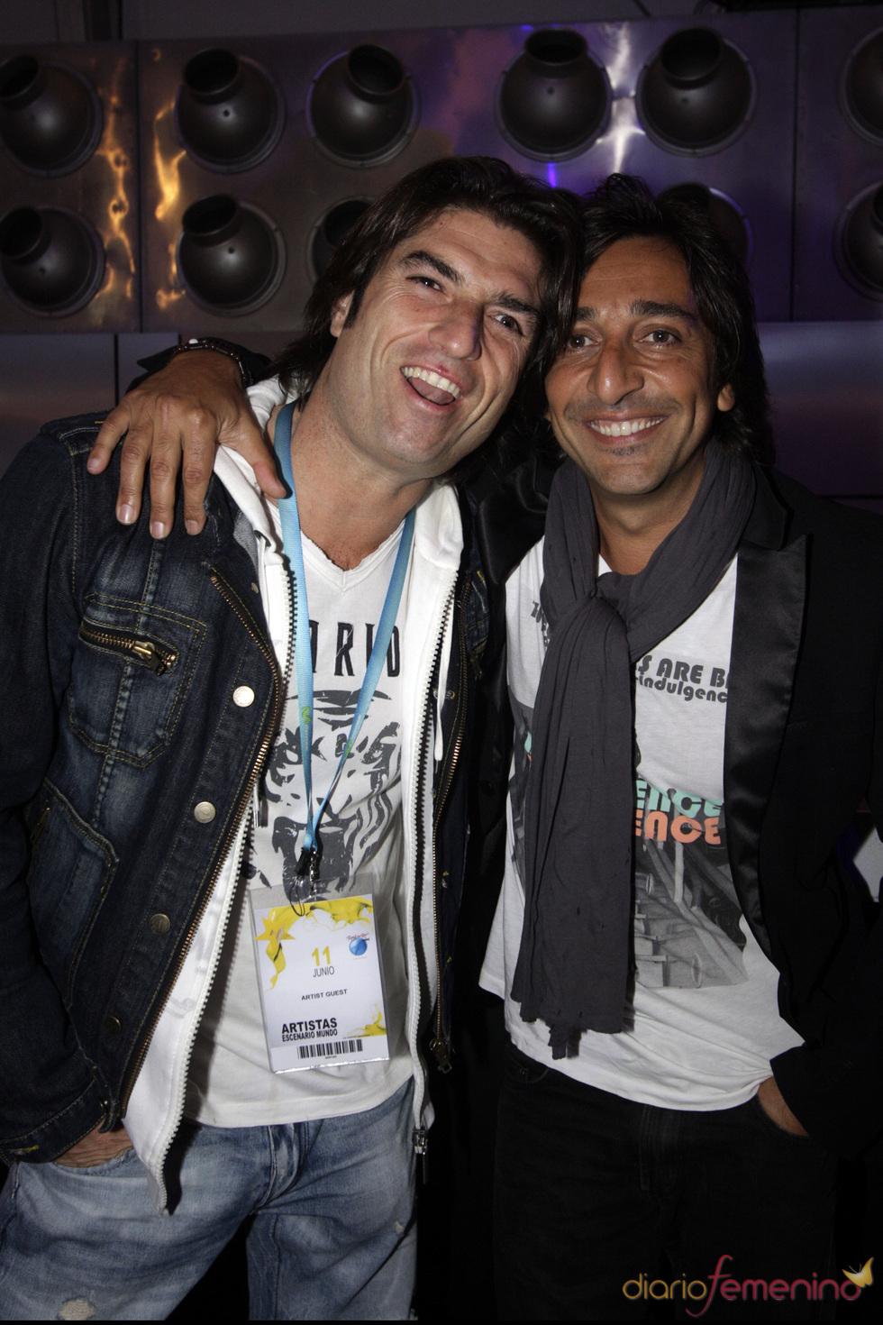 Antonio Carmona y Oscar Haro en el Rock in Rio Madrid 2010