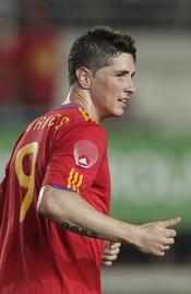 Fernando Torres con la camiseta de la Selección española