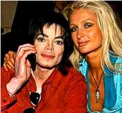 Michael Jackson con Paris Hilton
