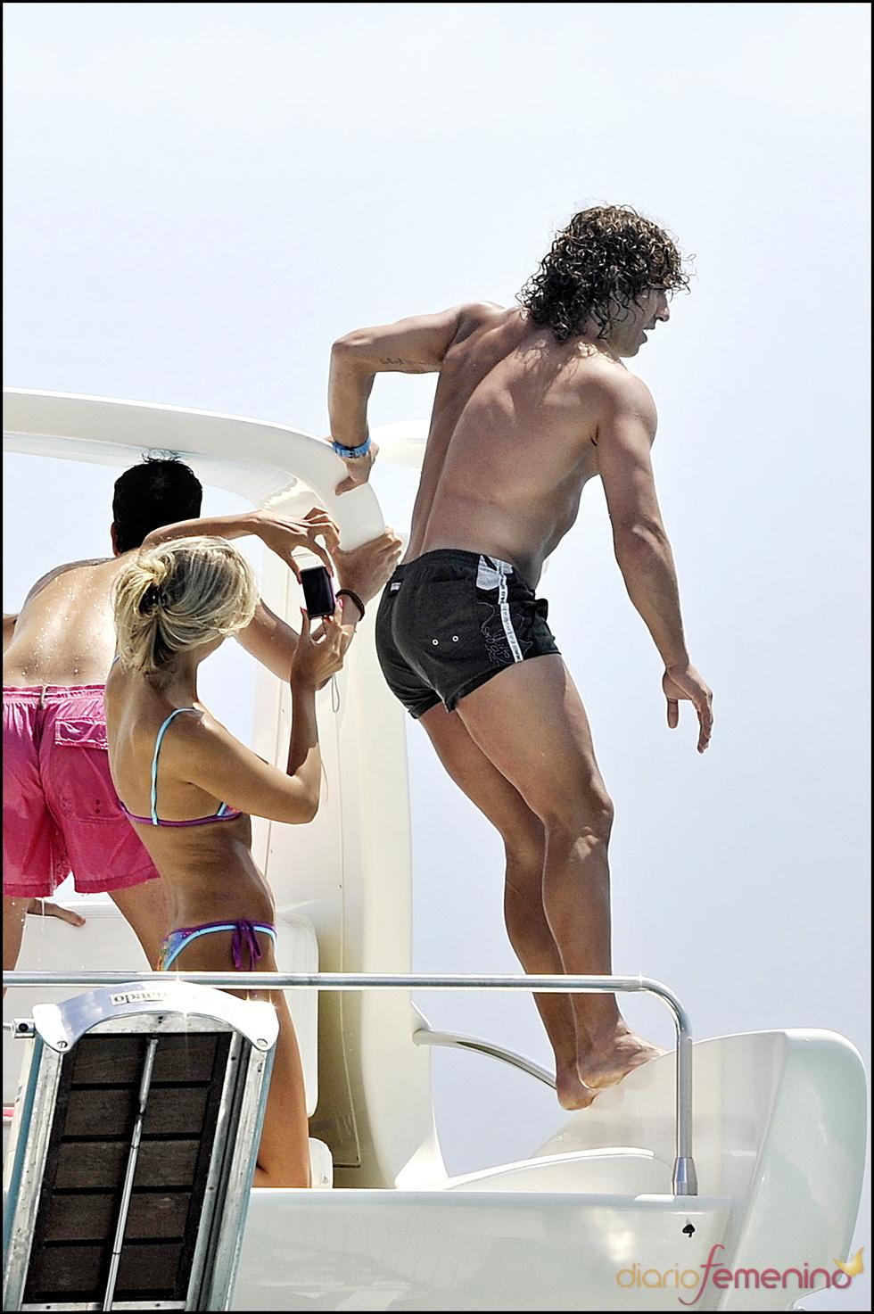 Carles Puyol en bañador