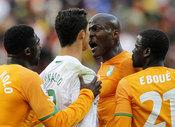Pelea de Cristiano Ronaldo en el Portugal - Costa de Marfil