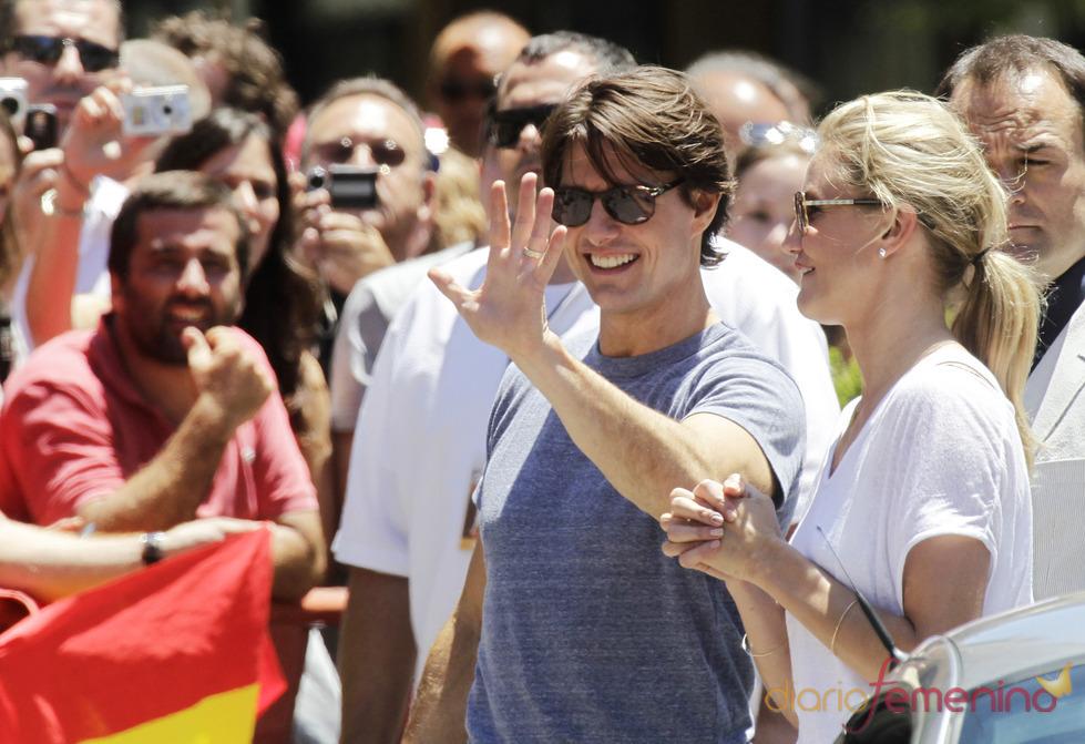 Tom Cruise y Cameron Diaz promocionan 'Dia y Noche' en Sevilla