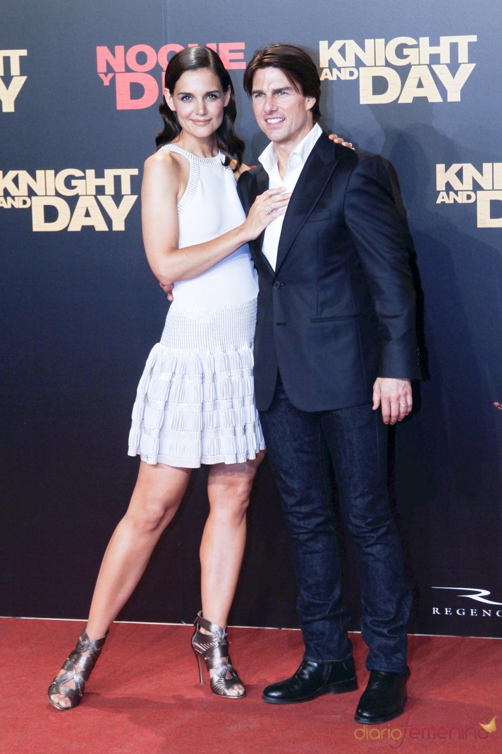 Tom Cruise y Katie Holmes en el estreno mundial de 'Noche y Día'