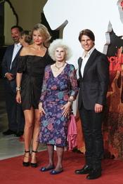 Tom Cruise, Cameron Diaz y la duquesa de Alba en el estreno de 'Noche y Día'