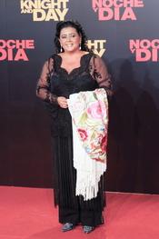 María del Monte en el estreno mundial de 'Noche y Día'