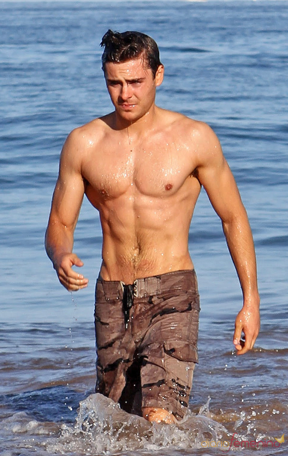 Zac Efron luce un cuerpo espectacular en la playa